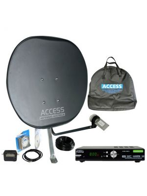 -- The Deluxe Portable Satellite TV Kit