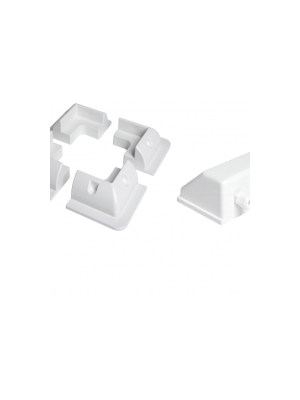 White Mounting bracket kit for fixed solar panels